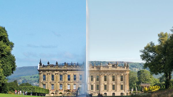 Before and after at chatsworth